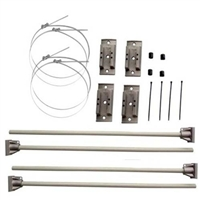 Hurricane double 30inch banner brackets kit