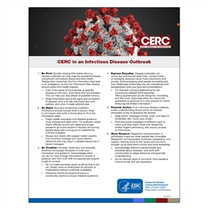 CERC In An Infectious Disease Outbreak Sign