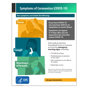 Symptoms Of Coronavirus Disease 2019 Sign