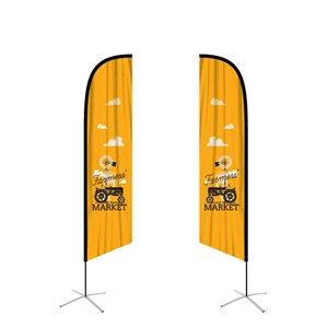 feather flag angled double sided graphic replacement
