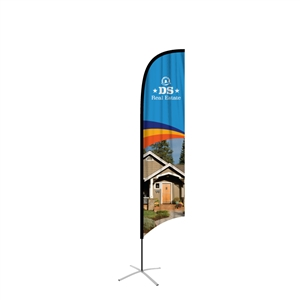 feather flag large single sided concave graphic replacement
