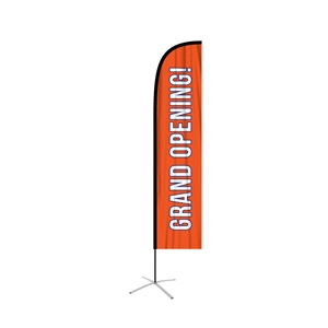 Straight Feather Flag single sided graphic replacement
