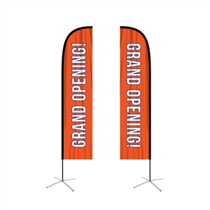 feather flag large straight double sided graphic