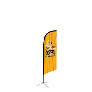 feather flag medium angled single sided graphic
