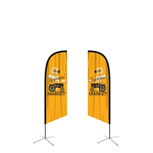 feather flag medium angled double sided graphic