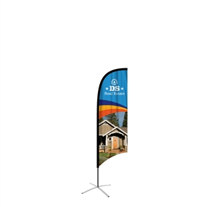 feather flag medium concave single sided graphic