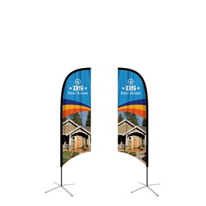 feather flag medium concave double sided graphic