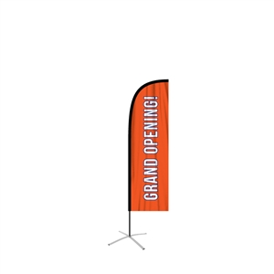 feather flag medium straight single-sided