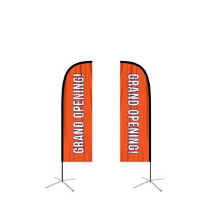 feather flag straight medium double sided