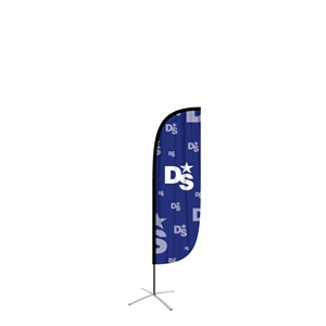 feather flag medium convex single sided graphic