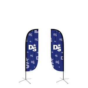 medium feather flag convex double sided graphic