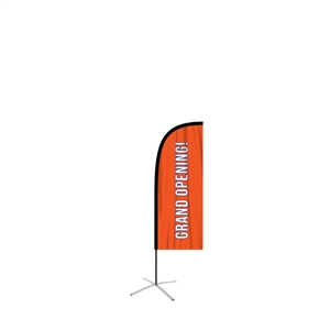 small straight feather flag single sided graphic