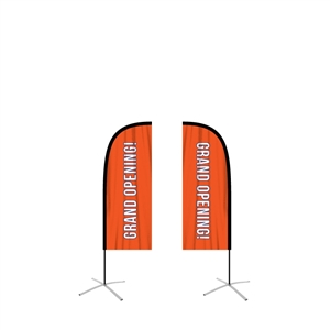 feather flag small straight double sided graphic