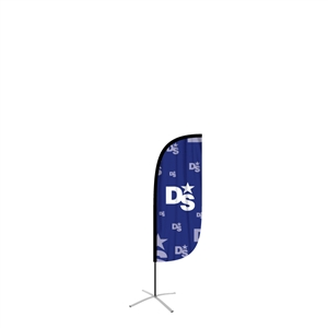 feather flag small convex single sided graphic