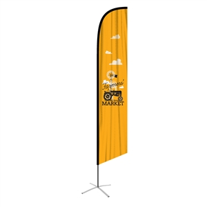 feather flag xlarge angled single sided graphic