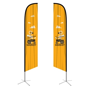 feather flag xlarge angled double sided graphic