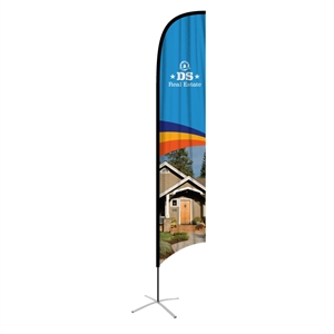 feather flag xlarge concave single sided graphic
