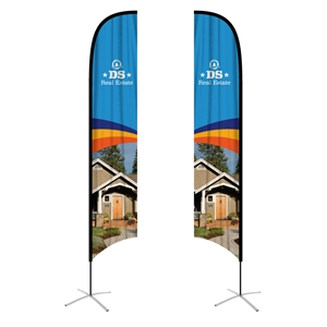 feather flag xlarge concave double sided graphic