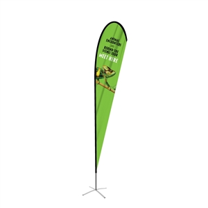 Extra Large Single-Sided Teardrop Flag Graphic