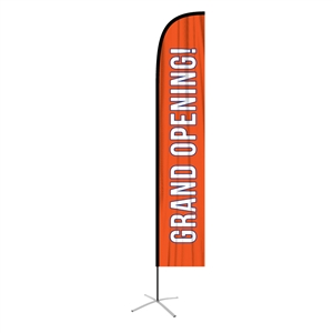 feather flag xlarge straight single sided graphic