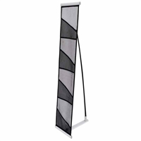 Black Fabric Literature Rack