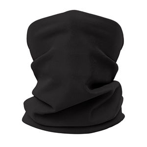 Versatile tubular neck gaiter face mask with a black design.