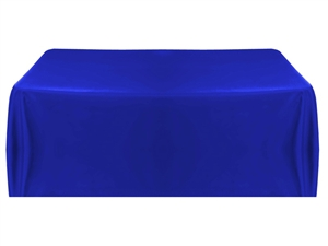 6' Economy Table Throw (4 Sided) - Royal Blue