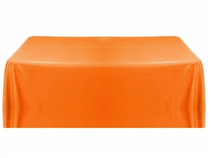 6' Economy Table Throw (4 Sided) - Orange