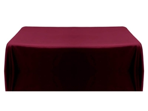 8ft (4 sided) table throw cover in burgundy