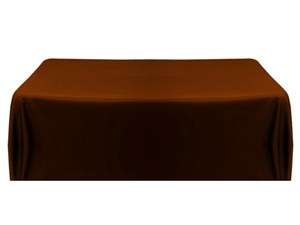 8ft (4 sided) table throw cover in chocolate