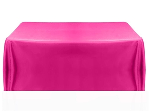 8ft 4 sided table throw cover in fuchsia