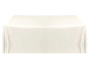 8ft (4 sided) table throw cover ivory