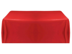 8ft (4 sided) table throw cover in red