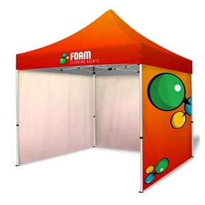 tent kit 4 10ft dye sublimation tent with three full walls