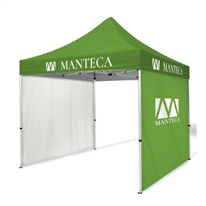 tent kit 6 10ft dye-sub tent with 2 full walls