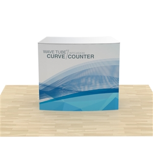 wave tube curved counter