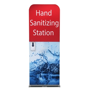 24inch hand sanitizer station with standard graphic