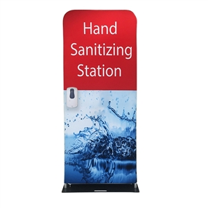hand sanitizer station with standard graphic
